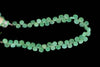 Light Green Chrysoprase 5mm Faceted Heart Shaped Briolettes Bead Strand