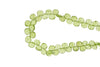 Green Peridot 7mm Faceted Heart Shaped Briolettes Bead Strand