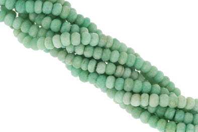 Blue Amazonite 8mm Faceted Rondelles
