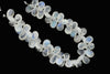 Blue Rainbow Moonstone 11x6mm Faceted Pear Shaped Briolettes