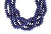 Royal Blue Lapis Lazuli 10mm German Cut Faceted Rondelles