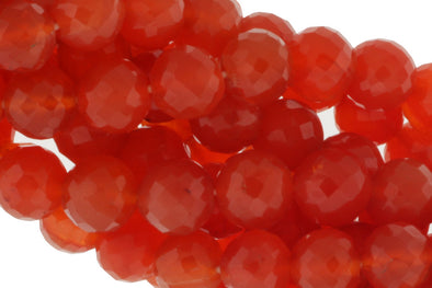 Orange Carnelian 10mm Faceted Rounds