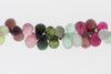 Watermelon Tourmaline 6x4mm Faceted Teardrop Briolettes
