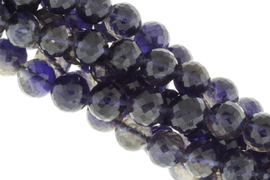 Blue Iolite 9mm Faceted Rounds