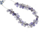 Blue Iolite 8x5mm Faceted Teardrop Briolettes