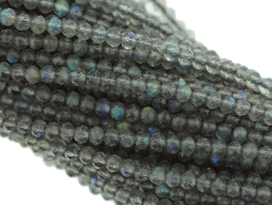 Labradorite 2mm Faceted Round Gemstone Beads