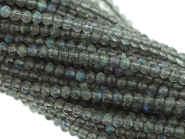 Labradorite 2.5mm Faceted Rondelles