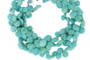 Natural Blue Turquoise 6mm Faceted Heart Shaped Briolettes