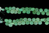 Apple Green Chrysoprase 10mm Faceted Heart Shaped Briolettes Bead Strand