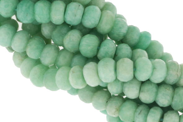 Blue Amazonite 7mm Faceted Rondelles