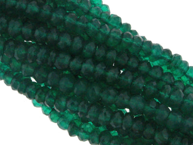 Green Onyx 3mm Faceted Rondelles