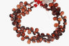 Red Garnet 9x7mm Faceted Pear Shaped Briolettes Bead Strand