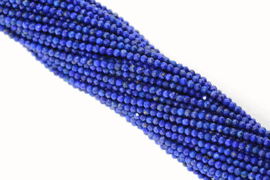 Royal Blue Lapis Lazuli 1.8mm Faceted Rounds