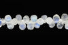AA Blue Rainbow Moonstone 7x5mm Faceted Teardrop Briolettes