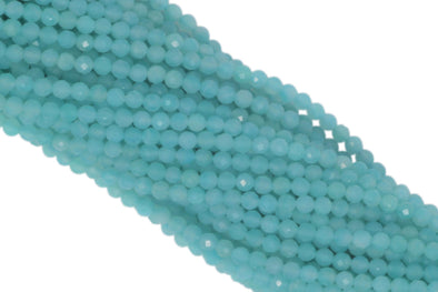 "Amazonite 3.5mm Faceted Rounds 13"" Bead Strand"