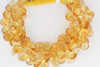 Yellow Citrine 11x9mm Faceted Pear Shaped Briolettes