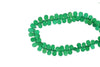 Green Onyx 8x5mm Faceted Teardrop Briolettes