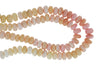 Ombre Pink Opal 10mm Faceted Rondelles