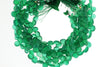 Green Onyx 6mm Faceted Heart Shaped Briolettes