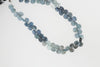 Blue Moss Aquamarine 6mm Faceted Heart Shaped Briolettes