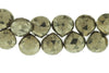 Natural Pyrite 10mm Faceted Heart Shaped Briolettes