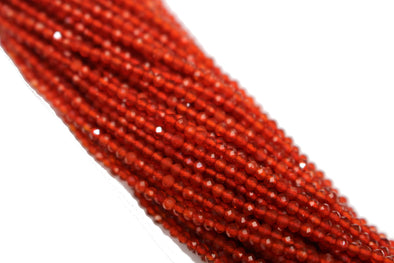 Red Carnelian 2mm Faceted Rounds