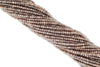 "Coated Chocolate Moonstone 3mm Faceted Rondelles 13"" Bead Strand"