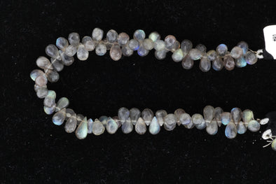 Blue Labradorite 7x4mm Faceted Teardrop Briolettes