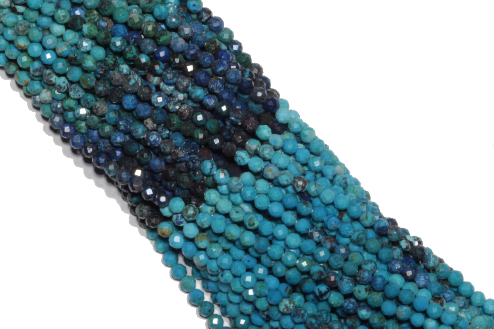 Ombre Chrysocolla  Faceted Rounds