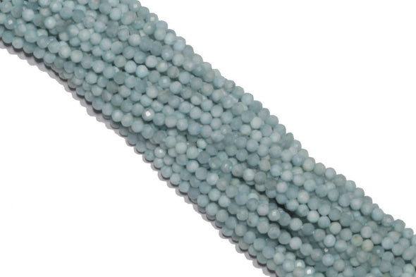 Larimar 2mm Faceted Rounds