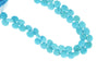 Natural Blue Turquoise 9mm Faceted Heart Shaped Briolettes