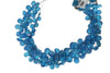Neon Blue Apatite 7x5mm Faceted Pear Shaped Briolettes