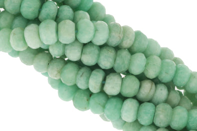 Blue Amazonite 6mm Faceted Rondelles
