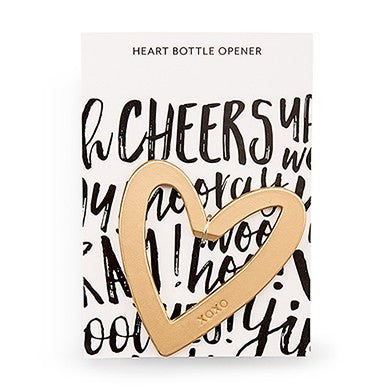 5 Gold Heart with XO Bottle Opener Favor