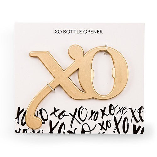 5 Gold XO Bottle Opener Favor