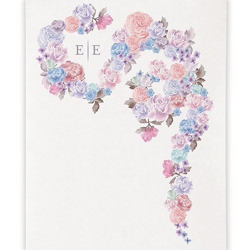 Violet Garden Floral Personalized Backdrop