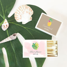 Personalized Tropical Beach Match Boxes