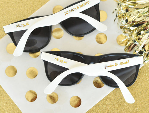 24 Personalized Wedding Sunglasses
