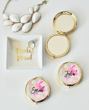 6 or More Personalized Floral Compacts