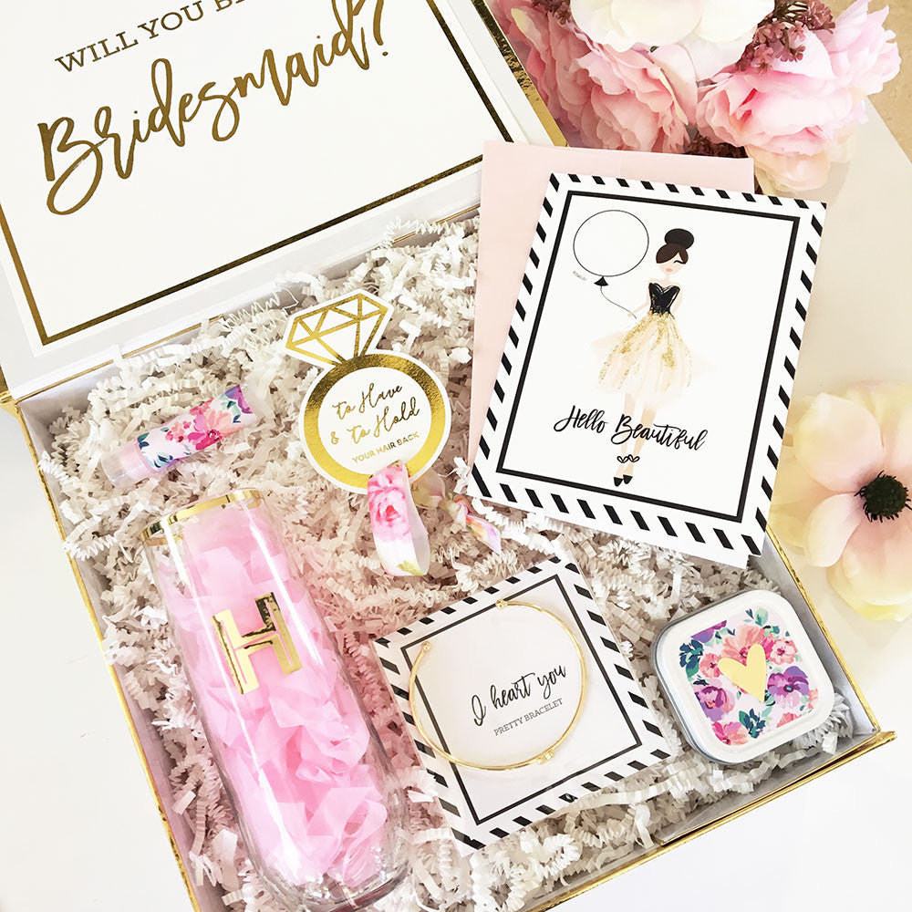 Just The Box - Personalized Bridesmaids Proposal Gift Box – Loved Ms.