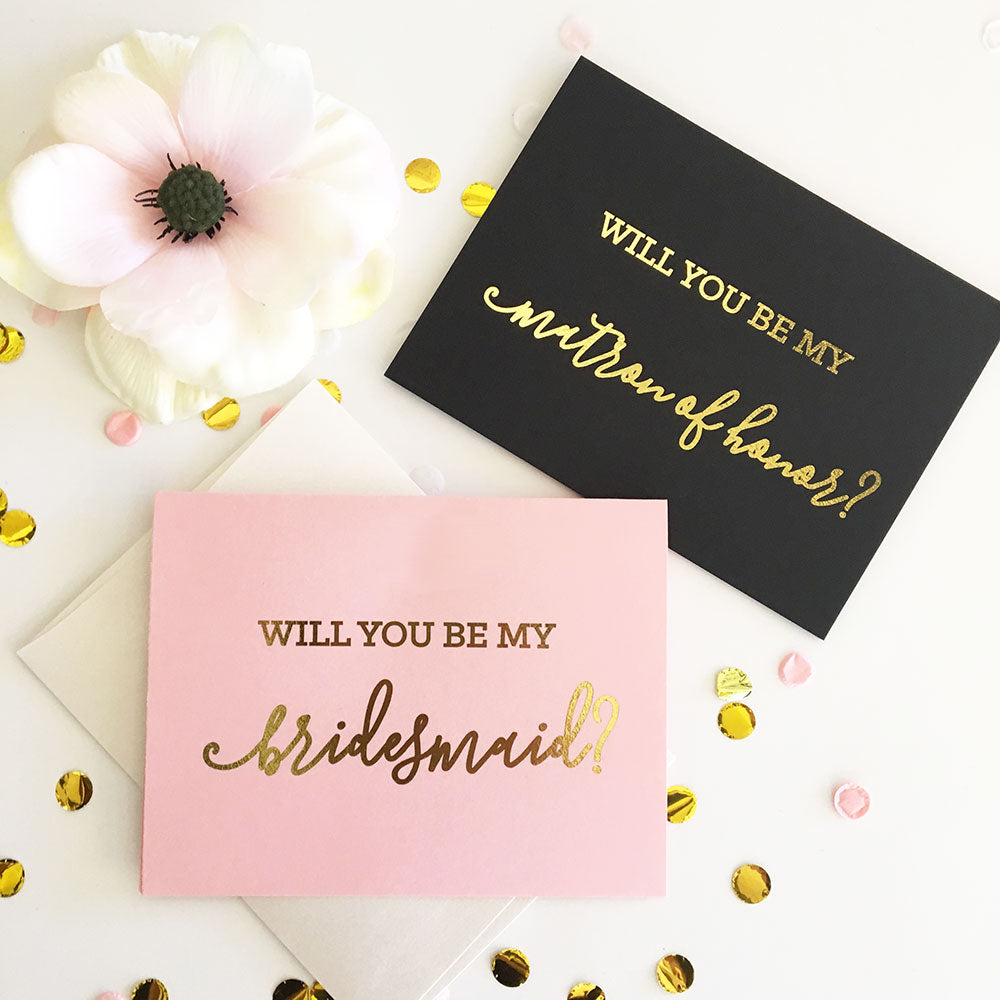 Be My Bridal Party Cards - Set of 4
