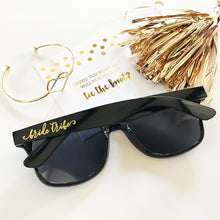 Black Bridal Party Sunglasses