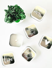 Bridal Party Square Candle Tin (set of 12)