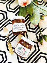 24 Personalized Floral Garden Honey Jars