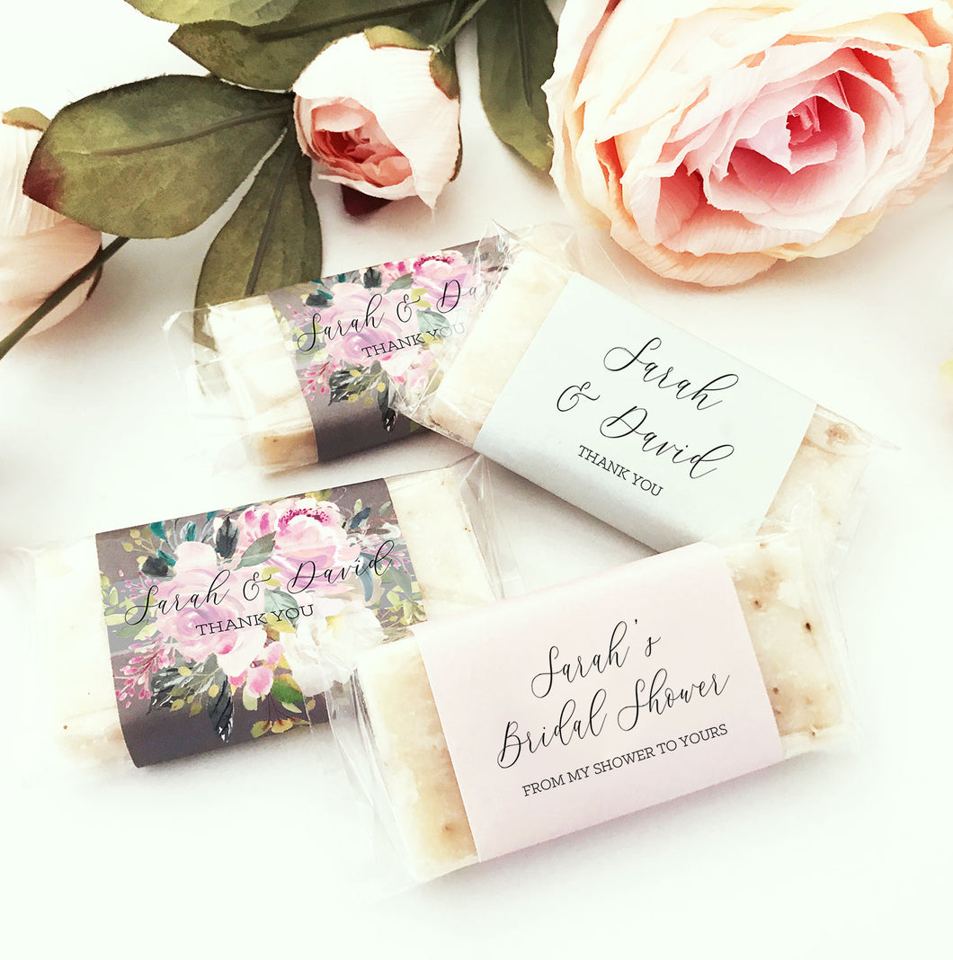 15 Personalized Mini Soap Favors