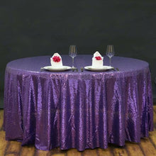 Purple Sequin Tablecloth