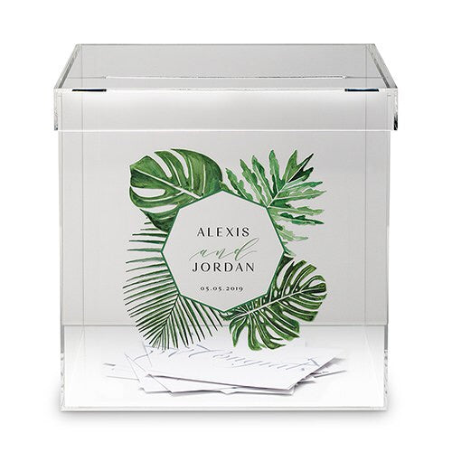 Tropical Leaf Well Wishing Box