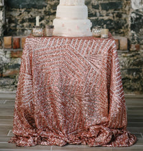 Rose Gold Sequin Pattern Tablecloth