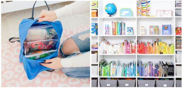 Backpack and Shelf Organization