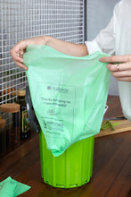 Lemon scented biodegradable waste bags